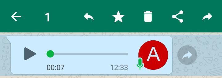 Selezionare un messaggio audio di Whatsapp