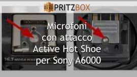 """Copertina dell'articolo """"Microfoni con attacco Active Hot Shoe per Sony A6000"""""""